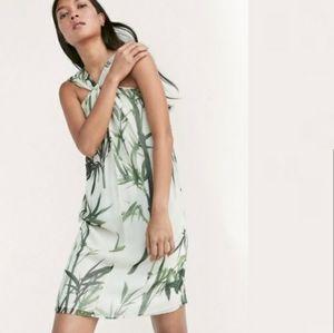 NWT MASSIMO DUTTI 100% silk bamboo print dress